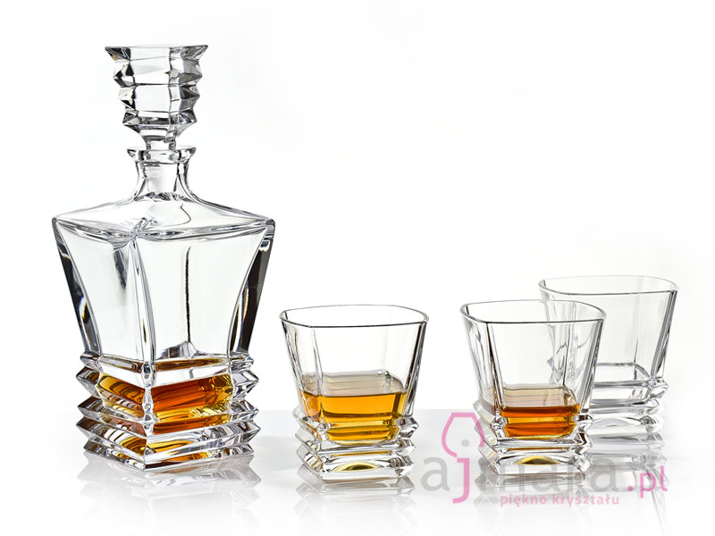 Bohemia Rocky Bottle And Tumblers For Whisky 16 Pcs