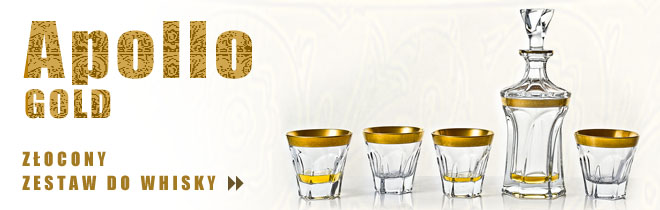 Zestaw do whisky Apoll Gold